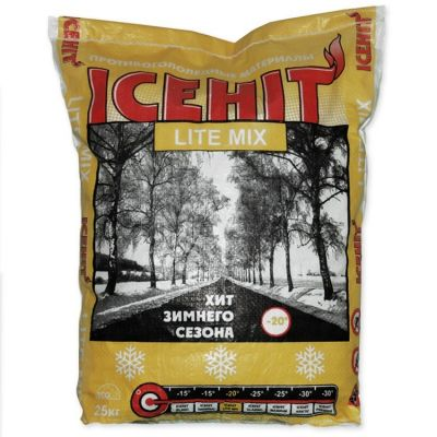 Антигололедный реагент ICEHIT Lite mix (мешок 25 кг) до -20ºС