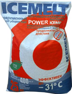 Антигололедный реагент АЙСМЕЛТ ПВ (25 кг) до -31ºС