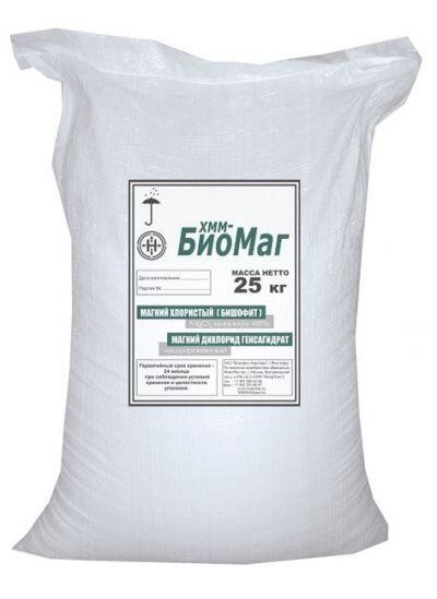 Антигололедный реагент БИОМАГ бишофит (25 кг) до -25ºС