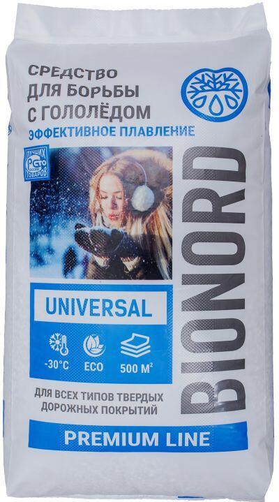 Противогололедный реагент БИОНОРД Универсальный (25 кг) до -25ºС