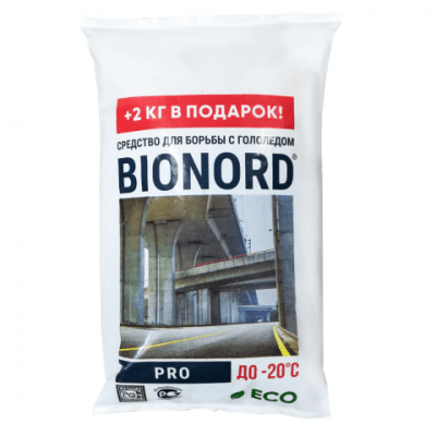 Противогололедный реагент BIONORD PRO (12 кг) до -20ºС