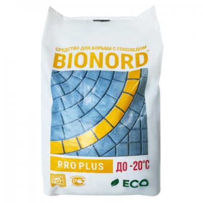 Антигололедный реагент BIONORD PRO PLUS (23 кг) до -20ºС