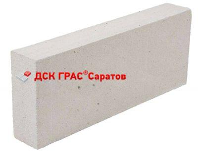 Пенобетонный блок Грас-С D-500 600x200x150
