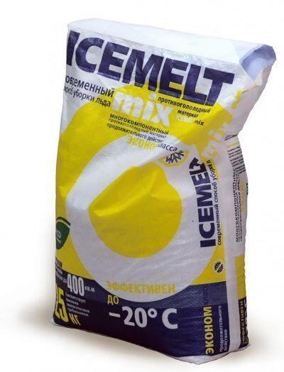 Антигололедный реагент АЙСМЕЛТ Микс (25 кг) до -20ºС