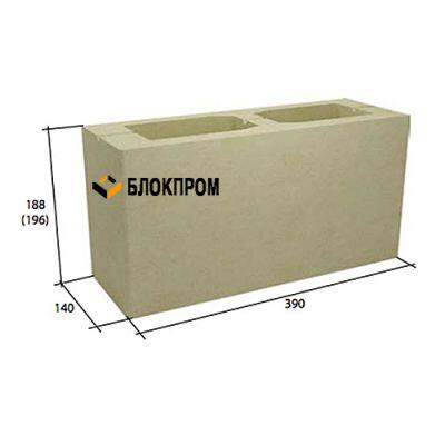 Стеновой пустотелый бетонный блок СКЦ-14Л плотность 1300