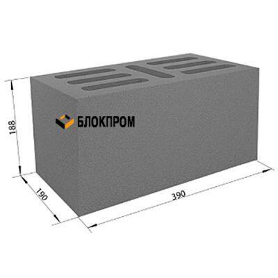 Семищелевой бетонный блок СКЦ-1ЛГ плотность 1700 (40х20х20)