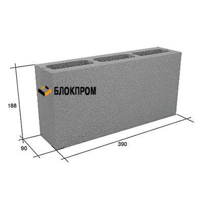Перегородочный пустотелый бетонный блок СКЦ-3Л плотность 1700