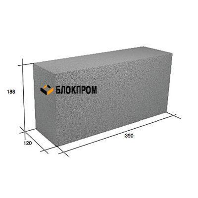 Перегородочный полнотелый бетонный блок СКЦ-39Л плотность 2200