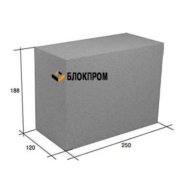 Перегородочный полнотелый бетонный блок СКЦ-25Л плотность 2200