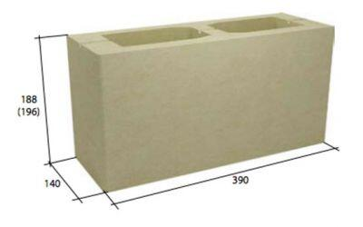 Стеновой пустотелый керамзитобетонный блок СКЦ-14Р плотность 1000