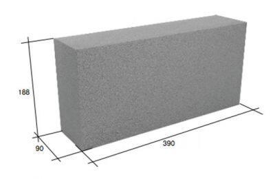 Перегородочный полнотелый керамзитобетонный блок СКЦ-3РК плотность 1650