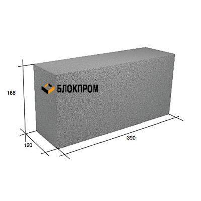 Полнотелый перегородочный бетонный блок СКЦ-39Л плотность 2080