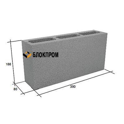Пустотелый перегородочный бетонный блок СКЦ-3Л (80) плотность 1450
