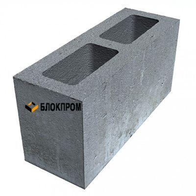 Двухпустотный бетонный блок для перегородок КСР-ПР-ПС-39-100- F75-1250