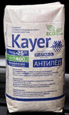 Противогололедный реагент RATMIX Kayer (25кг) до -25ºС
