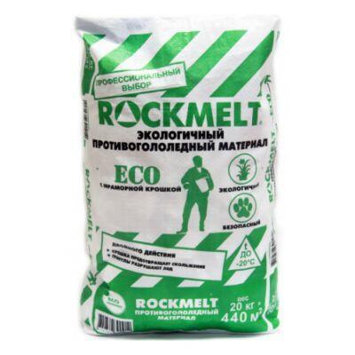 Противогололедный реагент Rockmelt  Eco (20 кг) до -20ºС