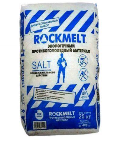 Противогололедный реагент Rockmelt Salt (20 кг) до -15ºС